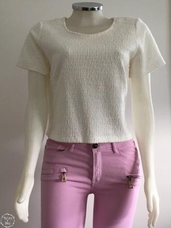 rosa e branco blusa