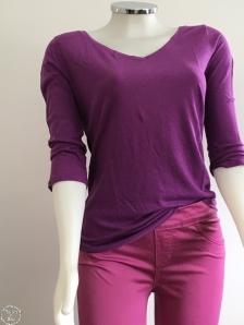 rosa e roxo roupa